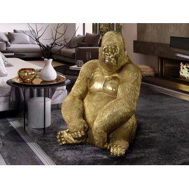 Statueta decorativa mare gorila Kong aurie