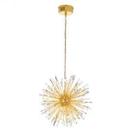 Candelabre, Lustre - Lustra suspendata design modern cu cristale, diametru 68cm VIVALDO 1 auriu