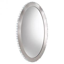 Oglinda decorativa moderna cu cristale si iluminat LED Toneria, 81x51cm