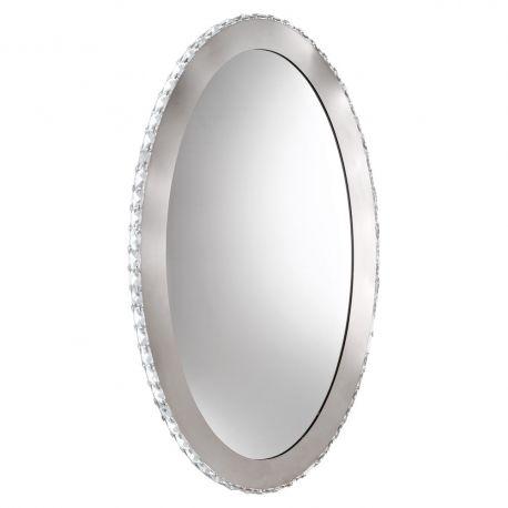 Oglinzi - Oglinda decorativa moderna cu cristale si iluminat LED Toneria, 81x51cm