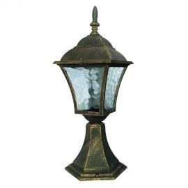 Stalpi  - Stalp pentru iluminat exterior H-41,5cm, IP43, auriu antic Toscana