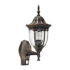 Aplice - Aplica pentru iluminat exterior cu senzor, IP43, up light, auriu antic Milano