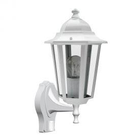 Aplice - Aplica pentru iluminat exterior cu senzor, IP43, up light, alb Velence