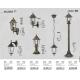 Pendule - Pendul pentru iluminat exterior, inaltime reglabila, IP43, auriu antic Velence
