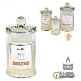 Parfumuri de camera, Idei cadouri, Obiecte decorative - Lumanare parfumata GLASS JAR CANDLE VANILLA crem