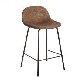 Set de 2 scaune de bar design modern Jaffer, maro inchis