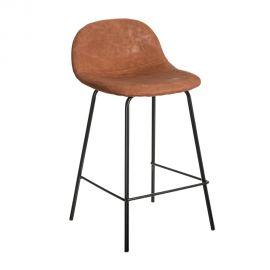 Set de 2 scaune de bar design modern Jaffer, maro