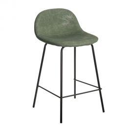 Set de 2 scaune de bar design modern Jaffer, verde
