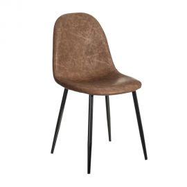 Set de 2 scaune design modern Jaffer, maro inchis