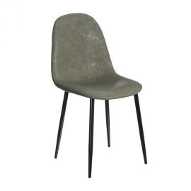 Set de 2 scaune design modern Jaffer, verde inchis