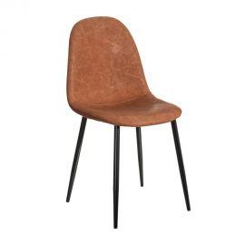 Set de 2 scaune design modern Jaffer, maro