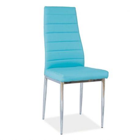 Scaune - Scaun H261 crom/ albastru