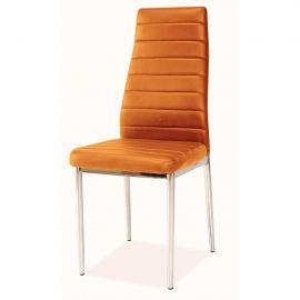 Scaun H261 crom/ portocaliu