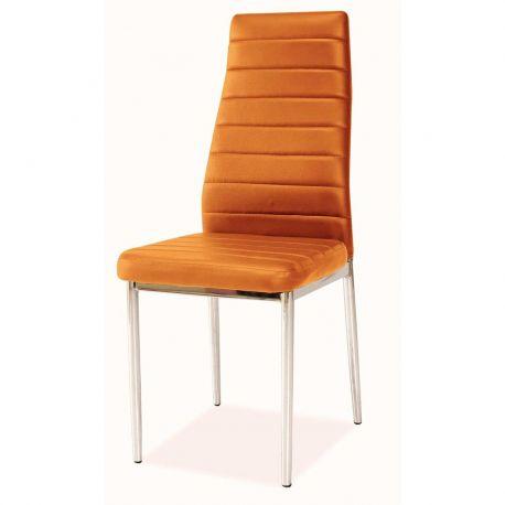 Scaune - Scaun H261 crom/ portocaliu