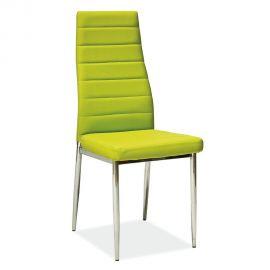 Scaune - Scaun H261 crom/ verde