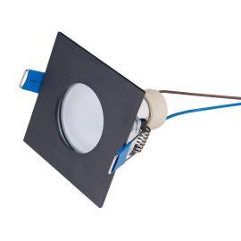 Iluminat pentru baie - Spot incastrabil tavan fals / plafon IP44 SQUARE negru