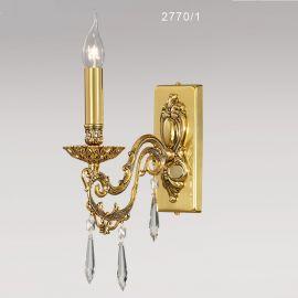 Aplica cu 1 brat, design LUX cu cristale Asfour, VERSALLES