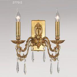 Aplica cu 2 brate, design LUX cu cristale Asfour, VERSALLES