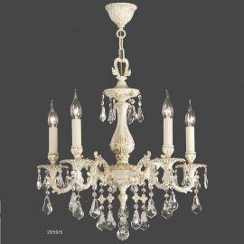 Candelabru 5 brate cu cristal Asfour, design LUX Valentina