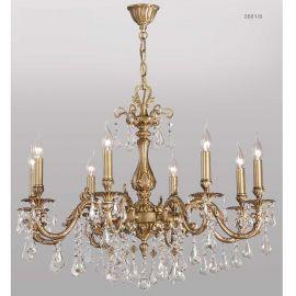 Candelabru 8 brate cu cristal Asfour, design LUX Valentina