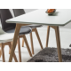 Mese dining - Masa MILAN 140x80cm stejar/ alb