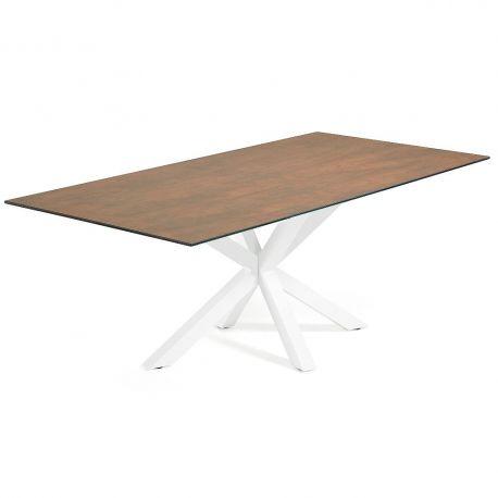 Mese dining - Masa Dining ARYA 180x100cm alb/ maro