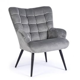 Fotolii - Fotoliu confortabil design modern JENNIFER catifea gri
