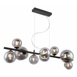 Pendule, Lustre suspendate - Lustra cu 9 surse de lumina design modern RIHA fumurie
