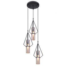 Pendule, Lustre suspendate - Lustra cu 3 pendule design modern GIJON chihlimbar