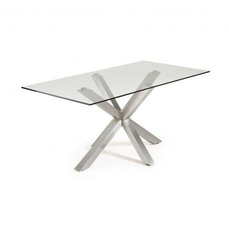 Mese dining - Masa Dining ARYA 160x90cm otel mat / sticla