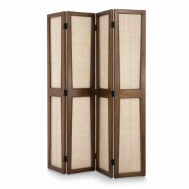 Garderobe - Paravan design LUX din rattan si lemn Juliane maro