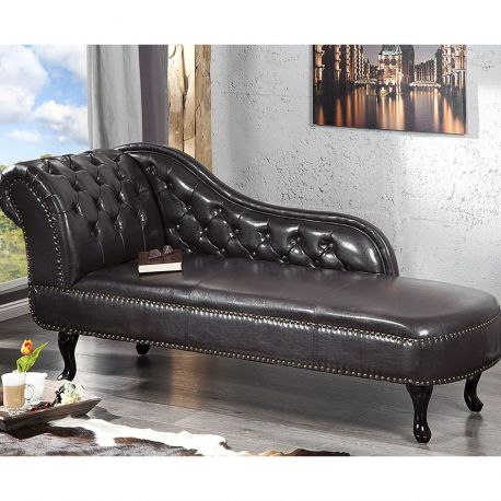 Canapele - Canapea relax Chesterfield cafeniu inchis