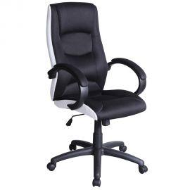 Scaune Birou cu role - Scaun de birou ergonomic Q-041 negru/ alb