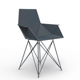 Scaune - Set de 4 Scaune moderne cu brate de exterior / interior design premium FAZ INOX LEGS ARMCHAIR