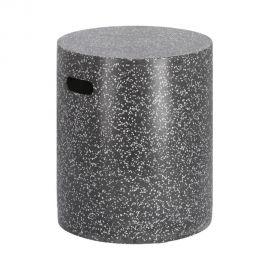 Scaune - Taburete pentru exterior din ciment design urban Jenell negru 35cm