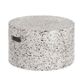 Mese - Masuta de cafea pentru exterior din ciment design urban Jenell alb 52cm