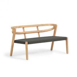 Canapele - Canapea din lemn de eucalipt Ezilda verde