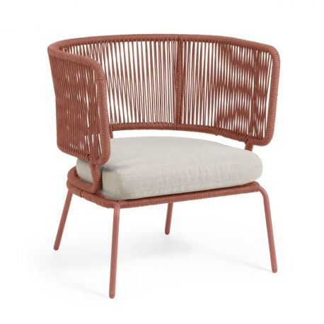 Fotolii - Fotoliu pentru interior si exterior design modern Nadin roz