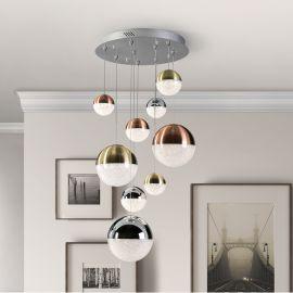Corpuri de iluminat Lustre pentru casa scarii - LUSTRA cu 9 pendule LED DIMABILA prin BLUETOOTH Sphere
