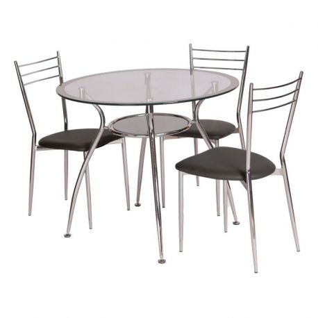 Mese dining - Masa FINEZJA A 90cm argintiu