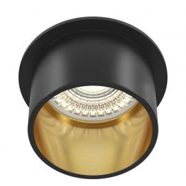 Plafoniere cu spoturi, Spoturi aplicate - Spot incastrabil design modern Reif negru/auriu