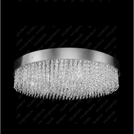 Plafoniere Cristal Bohemia - Plafoniera moderna cristal Bohemia, diametru 100cm