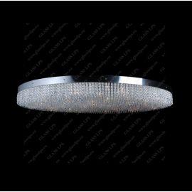 Plafoniere Cristal Bohemia - Plafoniera XXL moderna cristal Bohemia, diametru 140cm