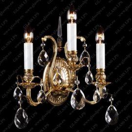 Aplice Cristal Bohemia - Aplica de perete 3 brate cristal Bohemia