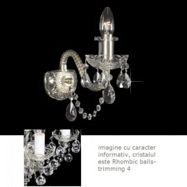 Aplice Cristal Bohemia - Aplica de perete cristal Bohemia N21 009/ 01/4