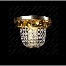 Aplica de perete cristal Bohemia N25 166/01/6, 6 light topaz