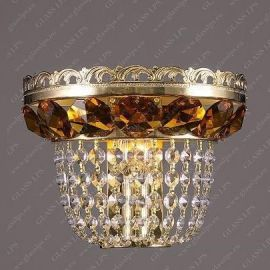 Aplice Cristal Bohemia - Aplica de perete cristal Bohemia N25 365/01/6 light topaz