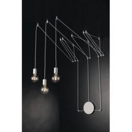 Candelabre, Lustre - Lustra cu 3 pendule design modern Habitat alb