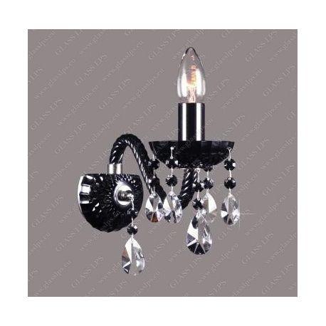 Aplice Cristal Bohemia - Aplica cristal Bohemia N21 808/01/1-A, 6 black, F black