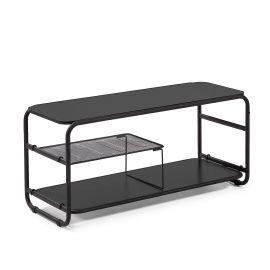 Biblioteci-Rafturi - Raft TV negru design industrial ACADEMY